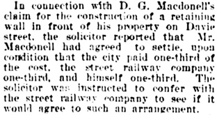 Vancouver Daily World, December 14, 1901, page 14, column 4.