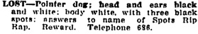 Vancouver Daily World, November 5, 1908, page 16, column 4.