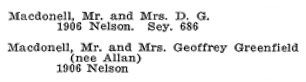 Vancouver Social Register and Club Directory, 1914, page 40.