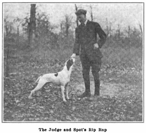 "D.G. Macdonell and Spot's [sic] Rip Rap, The Field Trials of 1908-1909, by A. F. Hochwalt, The Amateur Sportsman, July 1909, page 13; http://strideaway.com/wp-content/uploads/2012/08/Hochwalt_Field-Trials-1908-09.pdf. [Note: the article refers to D.G. Macdonell as ""the judge,"" although Donald was not actually a judge.]"