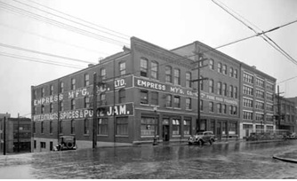 Empress Manufacturing Company, 1106 Homer at Helmcken, 1940, Vancouver Public Library, VPL Accession Number: 25268; http://www3.vpl.ca/spePhotos/LeonardFrankCollection/02DisplayJPGs/336/25268.jpg.