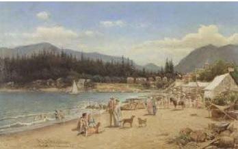 Helmuth Dirckinck-Holmfeld (Danish, 1835-1912); English Bay, Vancouver, B.C., 1904; http://artsalesindex.artinfo.com/auctions/Helmuth-Dirckinck-Holmfeld-152302/English-Bay,-Vancouver,-BC-1904.