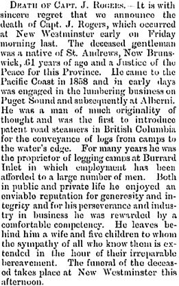 Victoria Daily Colonist, October 26, 1879, page 3, column 2; http://archive.org/stream/dailycolonist18791026uvic/18791026#page/n2/mode/1up.