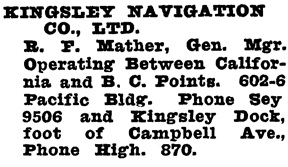 Wrigley's British Columbia Directory, 1928, page 1178.