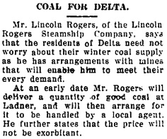 The Delta Times (Ladner, British Columbia), September 6, 1913, page 1, column 4; https://open.library.ubc.ca/collections/bcnewspapers/delttime/items/1.0079956#p0z-1r0f: