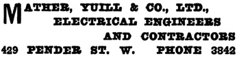 Henderson's Greater Vancouver Directory, 1911, Part 1, page 927.