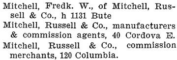 Henderson's BC Gazetteer and Directory, 1902, page 723 [selected portions].