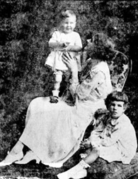"""Mrs. Geoffrey Macdonell and her two children, Marion and Donald, formerly of Vancouver, who have taken up their residence at Chilliwack."" Vancouver Sun, December 5, 1920, page 10; https://news.google.com/newspapers?id=WiZlAAAAIBAJ&sjid=iIgNAAAAIBAJ&pg=4117%2C3897847 [link leads to story beneath this photograph]."