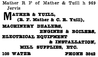 Henderson's City of Vancouver and North Vancouver Directory, 1909, page 894.