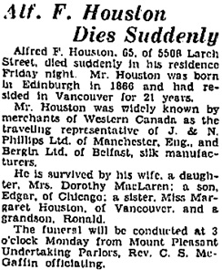 Vancouver Sun, November 14, 1931, page 24.