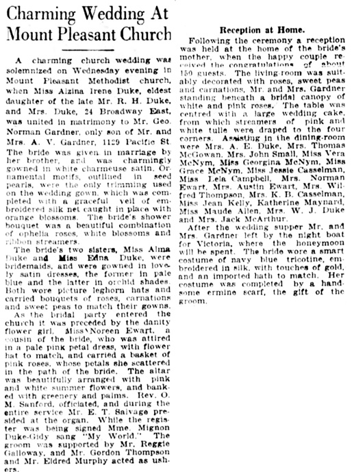 Vancouver Daily World, June 29, 1922, page 7, column 6.