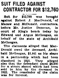 The Winnipeg Tribune, April 22, 1929, page 1, column 5.