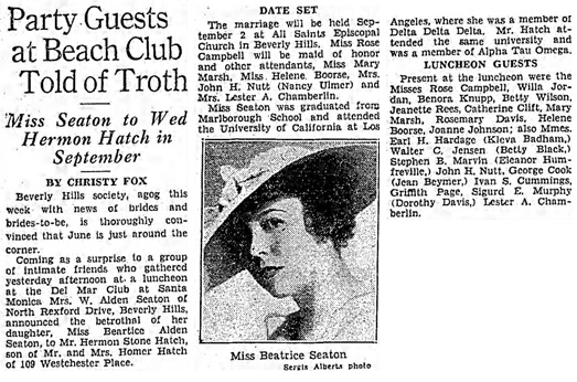 The Los Angeles Times, May 24, 1936, Sun, Page 76, column 1.