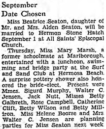 The Los Angeles Times, August 16, 1936, page 89, column 1.