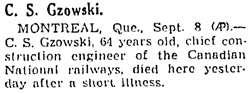 Chicago Tribune, September 9, 1940, page 14, column 6.