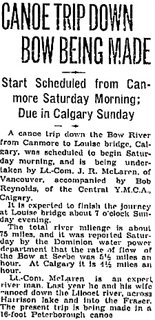Calgary Herald, May 26, 1928, page 1, column 6; https://news.google.com/newspapers?id=LwhlAAAAIBAJ&sjid=_HoNAAAAIBAJ&pg=1756%2C3351175 [link leads to top of columns 6-8; article is in column 6].