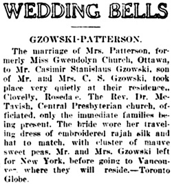 Vancouver Daily World, Monday, June 14, 1909, page 24, column 5.