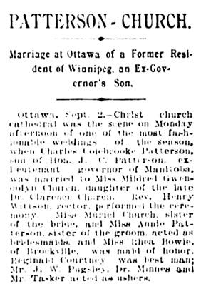 The Winnipeg Tribune, September 2, 1902, page 4, column 6.