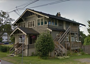 Daniel and Amelia Mowat House, 4382 Beresford Street, Burnaby, British Columbia; Google Streets, searched September 6, 2017; image dated August 2011.