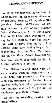 The Wetaskiwin Times, November 17, 1910, page 10, http://peel.library.ualberta.ca/newspapers/WKT/1910/11/17/10/Ar01003.html.