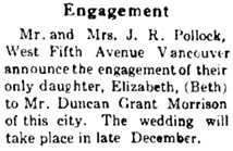 Coquitlam Herald, Port Coquitlam, British Columbia, volume 48, number 10, December 1, 1938, page 3; http://www.pocoheritage.org/pdf/newspapers/2010-5-312.pdf.