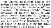 The Lethbridge Herald, October 28, 1953, page 24, column 4.