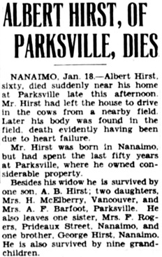 Victoria Daily Colonist, January 19, 1934, page 3, column 5; http://archive.org/stream/dailycolonist0134uvic_14#page/n2/mode/1up.