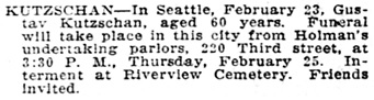 Morning Oregonian (Portland, Oregon) February 25, 1909, page 13; http://oregonnews.uoregon.edu/lccn/sn83025138/1909-02-25/ed-1/seq-13/.