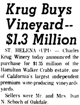 The Press Democrat (Santa Rosa, California), January 19, 1962, page 1, column 5.