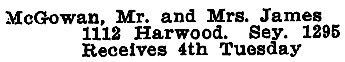 Vancouver Social Register and Club Directory, 1914, page 45.