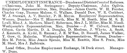 Dundee Directory, 1940, page 54; https://archive.org/stream/dundeedirectory194041dund#page/54/mode/1up.