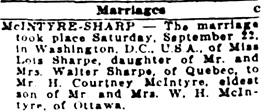 The Ottawa Journal, Monday, September 24, 1923, page 13, column 4.