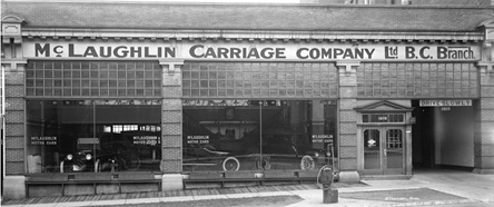 McLaughlin Carriage Company Ltd. B.C. Branch [1219 Georgia St.], about 1918, Vancouver City Archives, CVA 99-5178; http://searcharchives.vancouver.ca/mclaughlin-carriage-company-ltd-b-c-branch-1219-georgia-st.