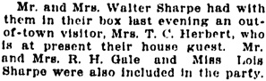 Vancouver Daily World, Wednesday, April 26, 1911, page 11, column 2.