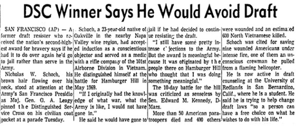 Green Bay Press-Gazette (Green Bay, Wisconsin), Wednesday, June 2, 1971, page 30, columns 5-8.
