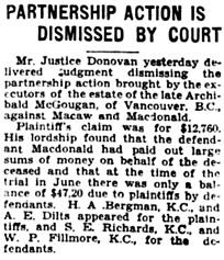 The Winnipeg Tribune, September 14, 1929, page 32, column 7.
