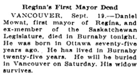 Victoria Daily Colonist, September 20, 1923, page 10, column 6; http://archive.org/stream/dailycolonist0923uvic_15#page/n9/mode/1up.