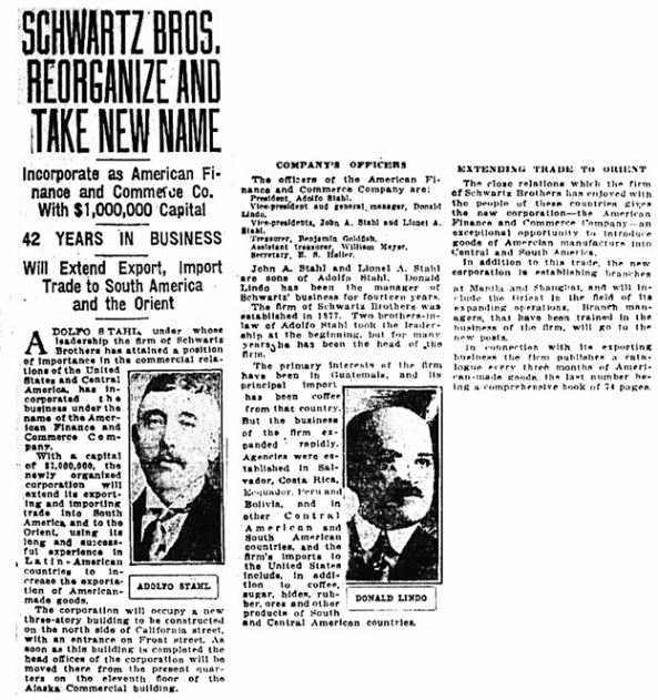 San Francisco Chronicle (San Francisco, California), August 1, 1919, page 5, columns 1 and 2.