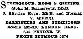Henderson's Greater Vancouver City Directory, 1915, page 955.