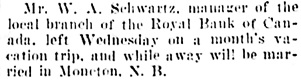 Social and Personal, Vancouver Daily World, March 28, 1908, page 20, column 2.