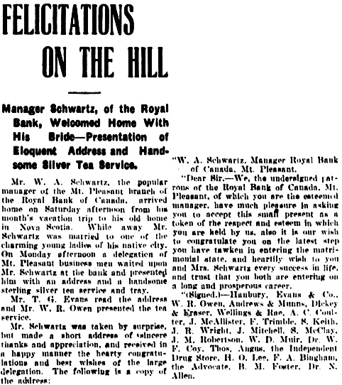 Vancouver Daily World, April 29, 1908, page 5.