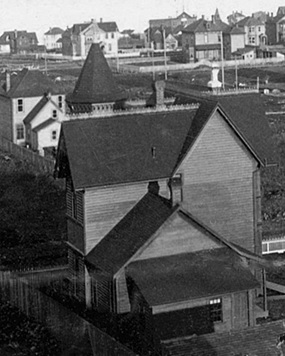 1108 Haro Street, about 1891, Vancouver City Archives, Dist P125 [detail]; http://searcharchives.vancouver.ca/vancouver-b-c-looking-northeast-from-roof-of-1123-barclay-street.