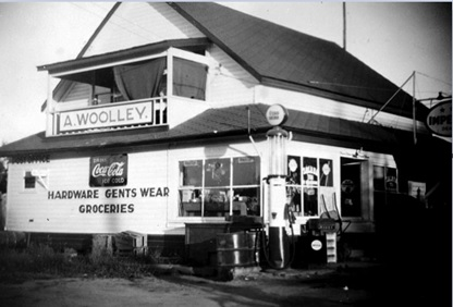 A. Woolley, Hardware, Gents Wear, Groceries; Sperling Station General Store, about 1948; British Columbia Archives; Item F-06582, http://search.bcarchives.gov.bc.ca/woolley-hardware-gents-wear-groceries-sperling-station-general-store.