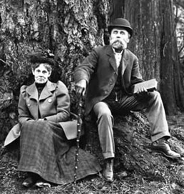 Charlotte Downing and John Downing, 1901, detail from Group Portrait by Large Tree; Vancouver Public Library, VPL Accession Number 4836; http://www3.vpl.ca/spePhotos/LeonardFrankCollection/02DisplayJPGs/1150/4836.jpg.