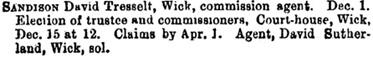 The Commercial Gazette, (London, England), December 9, 1891, page 24, column 1.