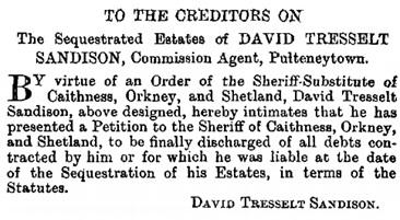 The Edinburgh Gazette, September 6, 1895, page 1250; https://www.thegazette.co.uk/Edinburgh/issue/10707/page/1250.
