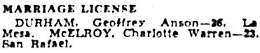 Oakland Tribune (Oakland, California), October 10, 1938, page 23, column 6.
