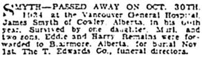 Vancouver Sun, November 1, 1934, page 24, column 1; https://news.google.com/newspapers?id=ZvFlAAAAIBAJ&sjid=84gNAAAAIBAJ&pg=3725%2C143013.