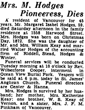 Vancouver Sun, October 26, 1931, page 16, column 4; https://news.google.com/newspapers?id=6y1lAAAAIBAJ&sjid=yYgNAAAAIBAJ&pg=3158%2C3157331.