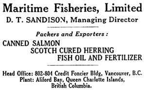 Canadian Fisherman, volume 7, number 1, January 1920, page 11; https://archive.org/stream/canadianfisherma07cana#page/n14/mode/1up.